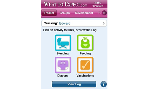1. What To Expect baby tracker app for iPhone