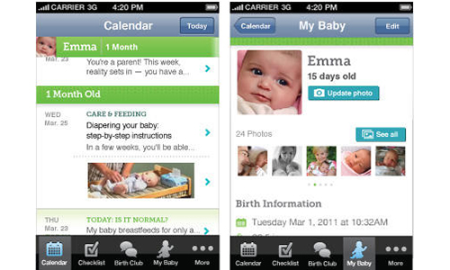 2. BabyCentre Mobile app for iPhone and Android