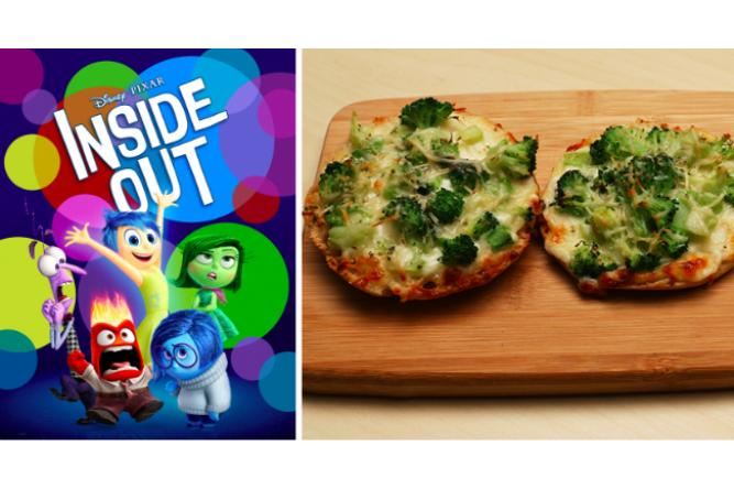 Broccoli Pizza with Inside Out
