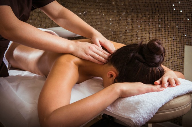 A voucher for a day at the spa