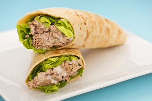 5.Tuna with spinach wrap