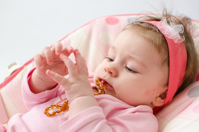 Home remedy 3 -Amber teething necklaces