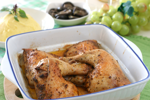 Drumsticks baked with light cajun spices and olive oil
