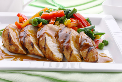 Chicken breast with oyster sauce