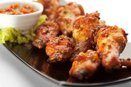 Curry fried chicken wings