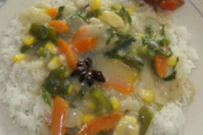 Vegetarian Recipe #4: Rice with creamy vegetables
