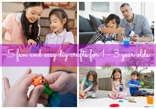 5 fun and easy diy crafts for 1 - 3 year olds