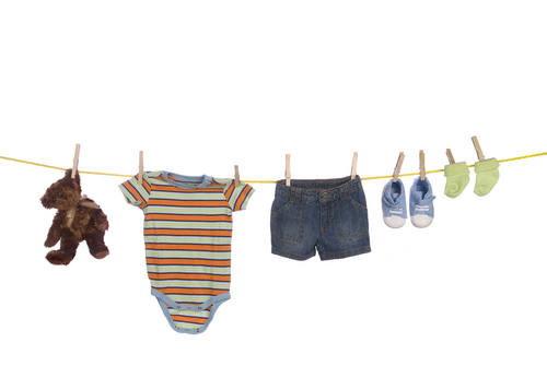 4. Wash new baby clothes