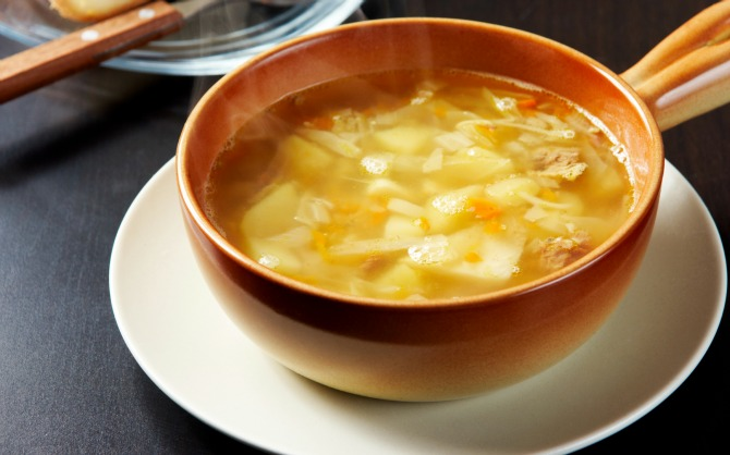 Fishmaw and cabbage Soup