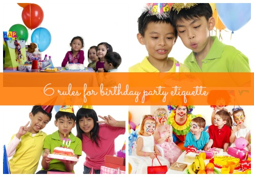 Party etiquette when hosting a birthday