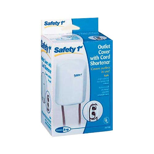 3. Safety 1st 2-in-1 Outlet Cover with Cord Shortener