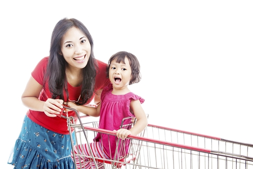 1. When you are out with your kids, interact with them constantly.