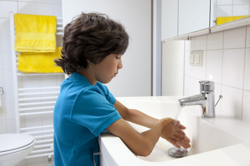 3. Tell them when they need to wash their hands