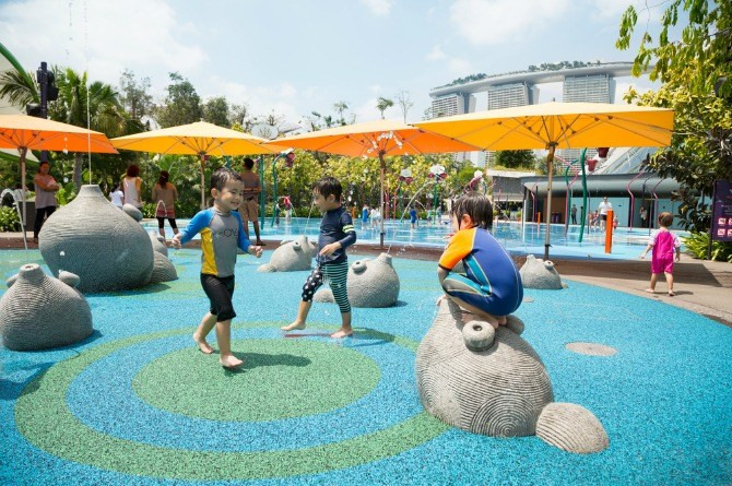 Garden By The Bay Water Park pocket-friendly ideas for a birthday party in singapore