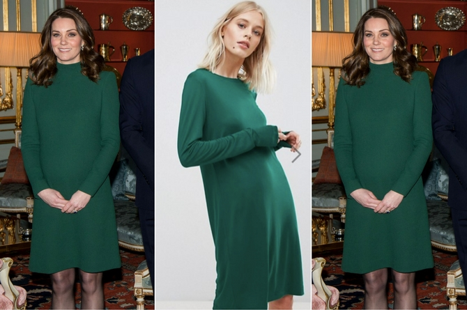 Kate's gorgeous green look