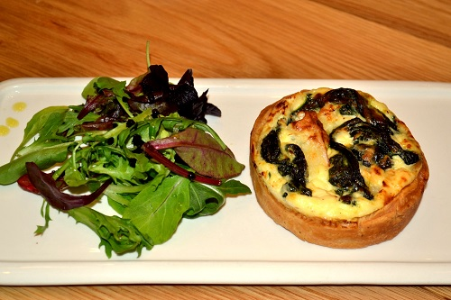 Goat Cheese and Spinach Quiche