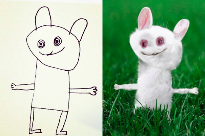 """LOOK: Dad transforms son's drawings into """"real"""" photos"""