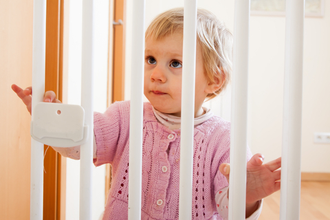 Baby proofing areas of the home