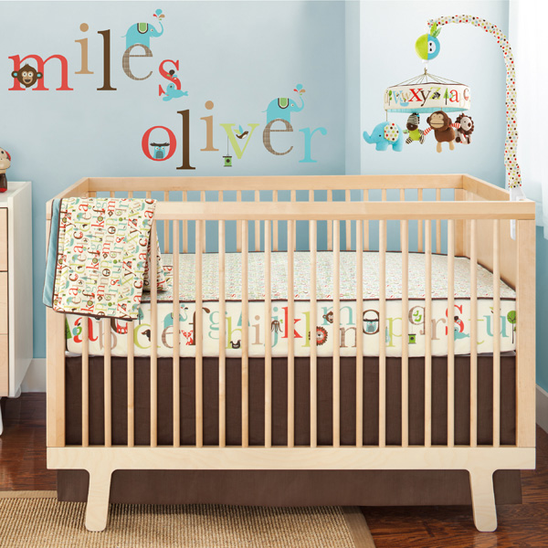 Skip Hop Nursery Blanket, Wall Decals, and Musical Mobile