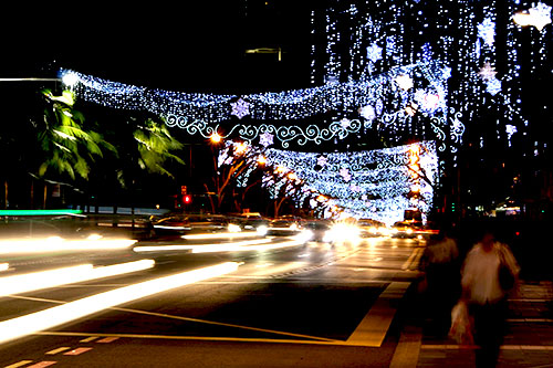 The Christmas lights of Orchard Road