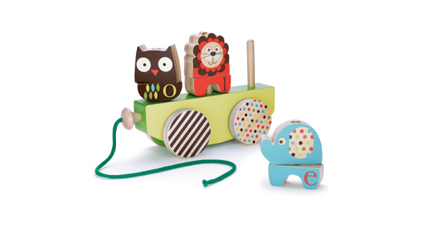Skip Hop Alphabet Zoo Rock & Stack Pull Toy