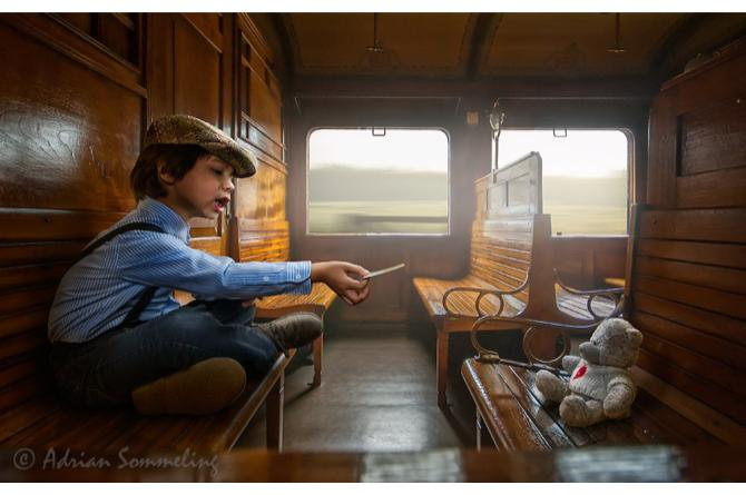 On an old train