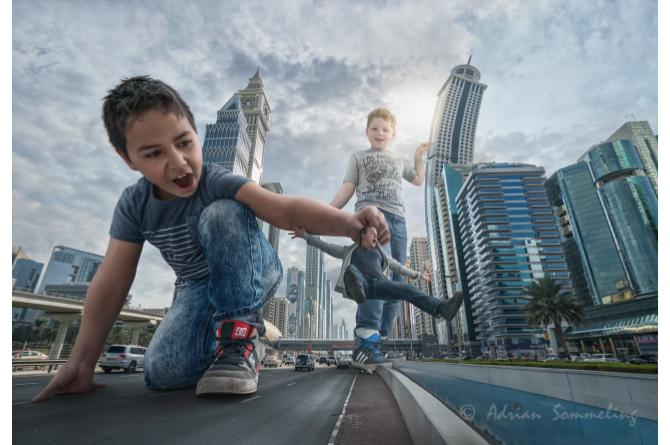 Giants in the streets of Dubai
