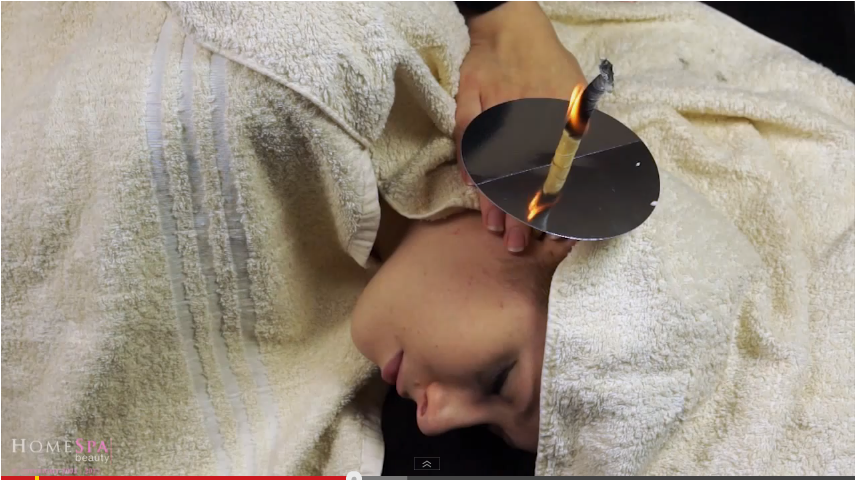 1. Ear Candling to cleanse ears