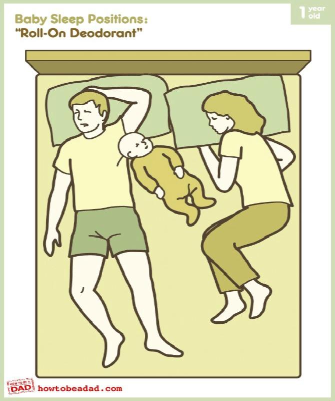 Vị trí ngủ buồn cười tất cả các bậc cha mẹ có thể liên hệ được với bản thân