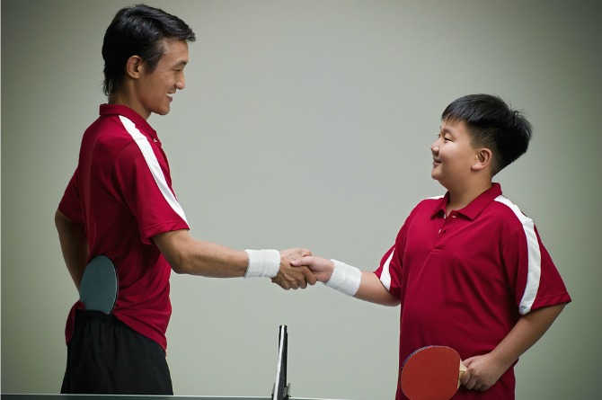 In good sportsmanship: Encourage a heart of thankfulness