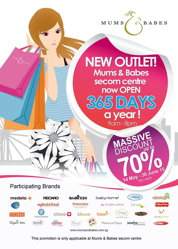 Mums & Babes new outlet opening sale