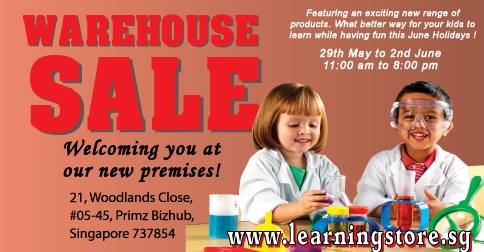 The Learning Store Warehouse Sale