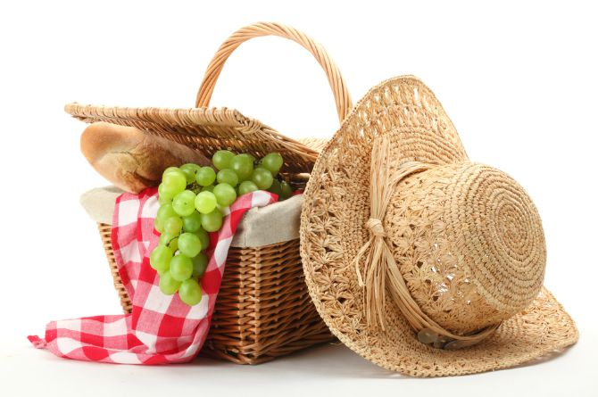 6.     Who says you can't have a picnic?