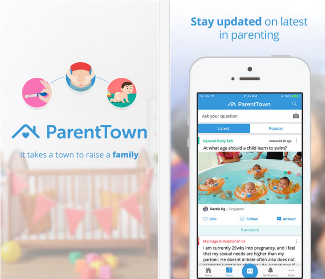 "src=https://sg.theasianparent.com/wp content/blogs.dir/1/files/here are the best parenting apps you should have on your phone right now/Parenttown.png 11 ứng dụng ""đỉnh""   phụ huynh ai cũng nên có"