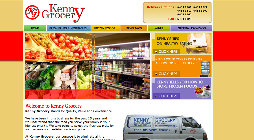 1. Kenny Grocery - Fruits, vegetables, meats, wines