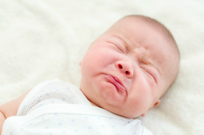 Teething sign 4:Crying in pain