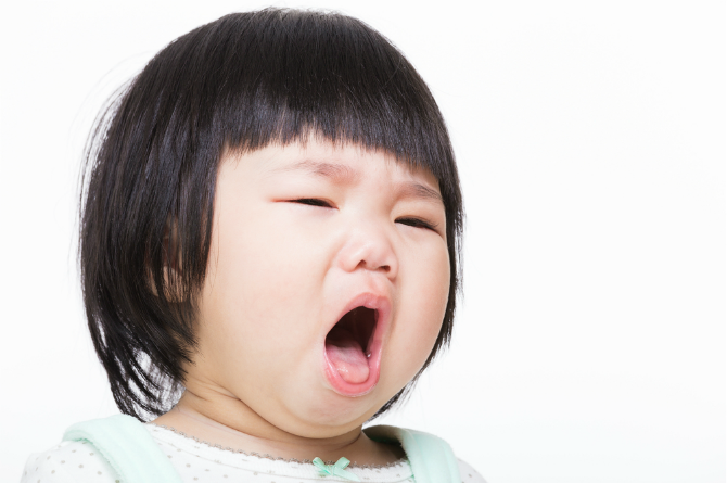 Teething sign 7:Coughing