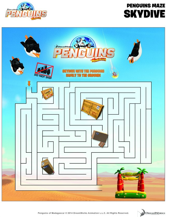 Help the penguins to safety