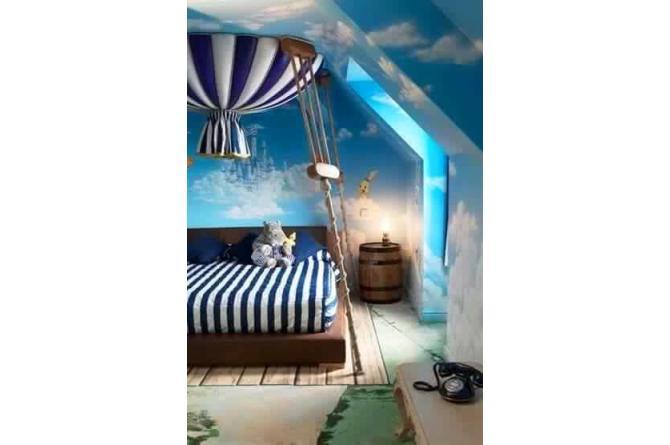 1. This hot-air balloon themed room is just precious!
