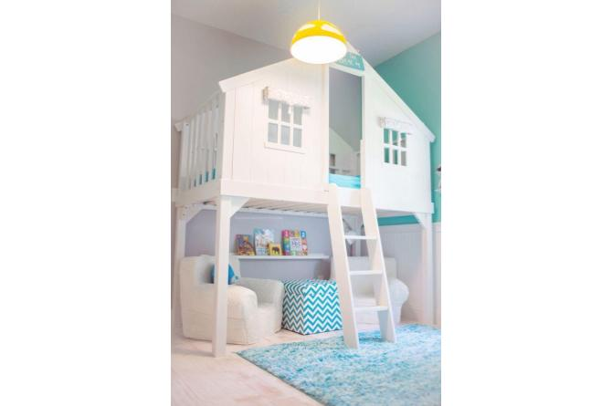 10. This treehouse bed makes any room 10 times more awesome. Paint it white and use a pastel color scheme for a dainty look