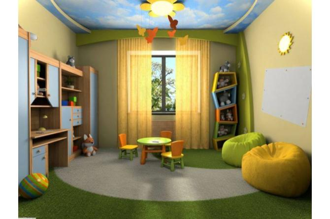 12. This room is so fun and adorable! Check out the flower light and the butterfly mobile!