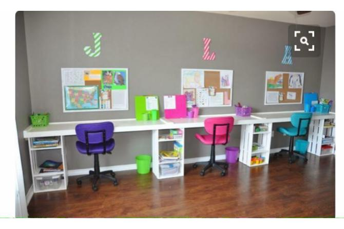 14. These desks are perfect for homeschoolers, or just households with multiple kids