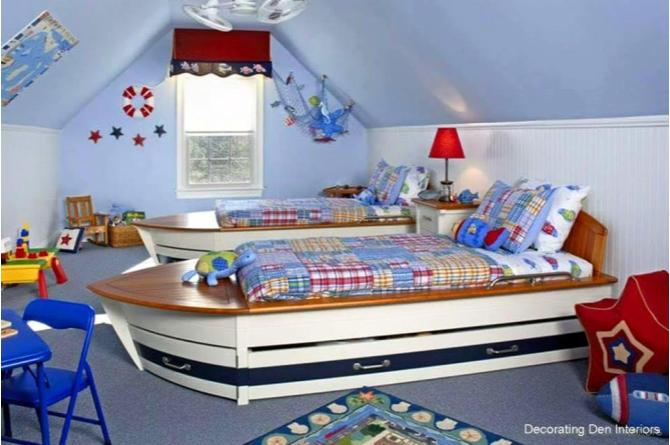 21. Can these boat beds be any cuter?