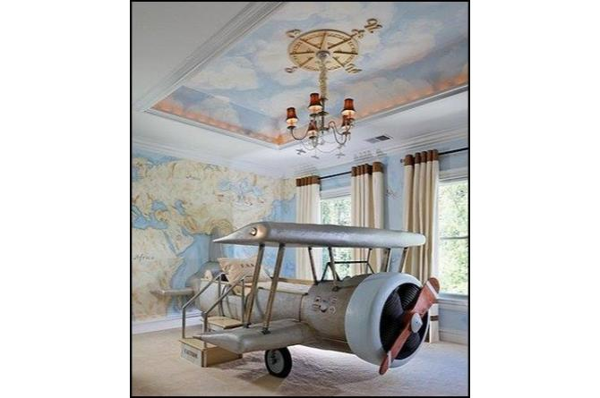 24. Just think of all the adventures your kid will dream about on this airplane bed!