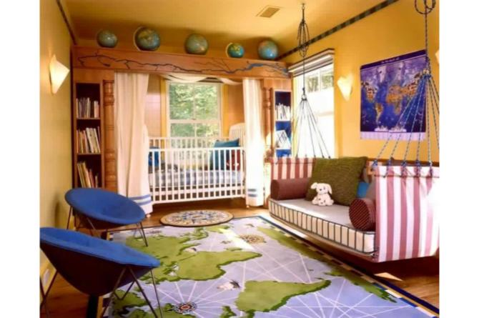 4. Are your kids travel bugs in the making? Feed their wanderlust by surrounding them with maps and globes.