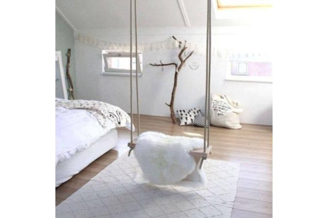 7. A swing in your bedroom? How sweet is that?