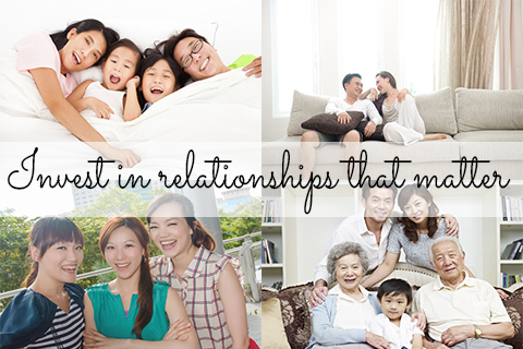 Invest in relationships that matter