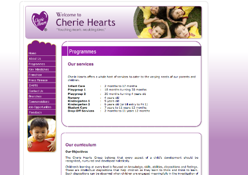 Cherie Hearts @ HarbourFront (with Infant-care services)