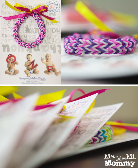 Rainbow Loom bracelets as giveaways or holiday gifts