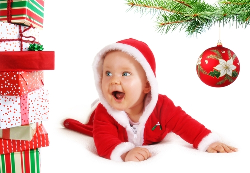 3. Having Christmas with your baby for the first time.
